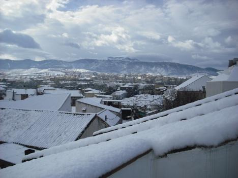 Nevó en nuestro pueblo
