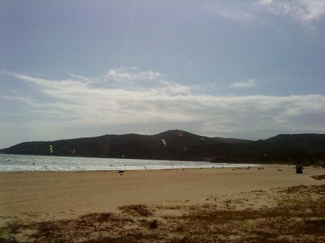 Windsurfistas en Getares (Hoy)